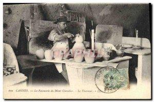 Old Postcard Cannes faiencerie Mont Chevalier Turner Potter TOP