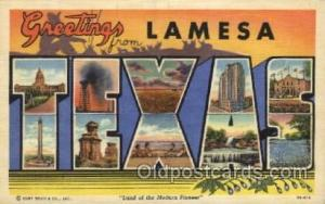Lamesa, Texas, USA Large Letter Towns Postcard Postcards  Lamesa, Texas, USA