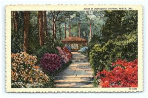 Postcard AL Mobile Bellingrath Gardens Vintage Linen F14