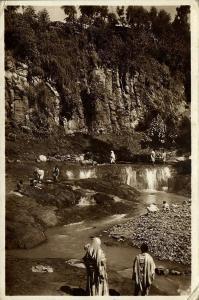 ethiopia, ADDIS ABEBA, Il Fiume Acachi River (1930s) RPPC Postcard