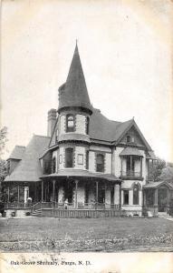 A79/ Fargo North Dakota ND Postcard 1909 Oak Grove Seminary Building