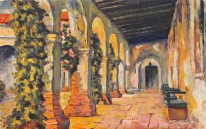Mission San Juan Capistrano, rear Corridor 1937