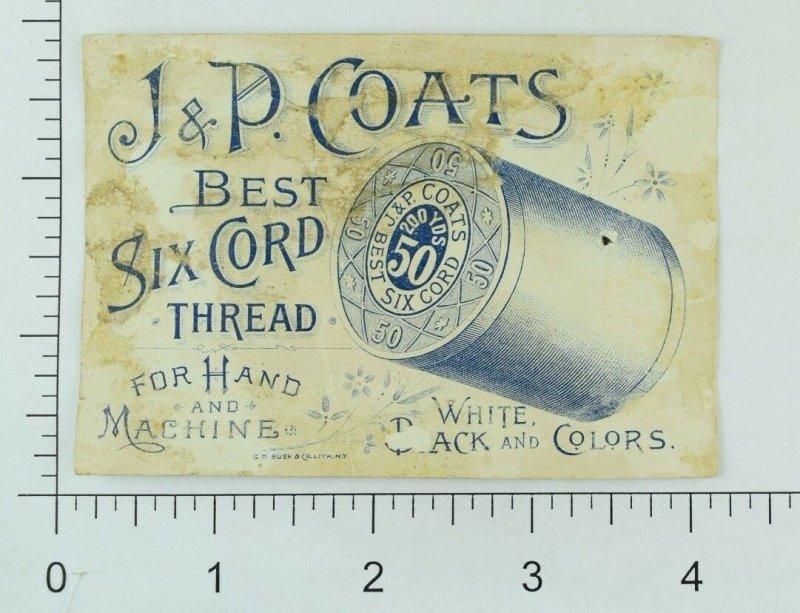 1880's J & P Coats Spool Cotton Halloween Girl-Witch Black Cat Spider & Web P80
