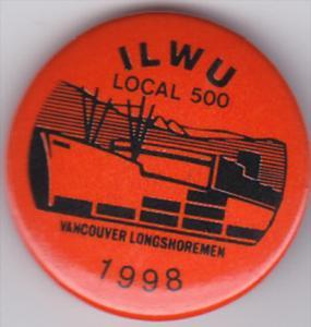 VANCOUVER , British Columbia Longshoremen Union pin ILWU Local 500 , 1998