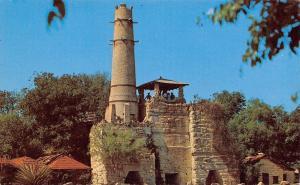 San Antonio Texas~Brackenridge Park~Portland Cement Plant Ruins~1950s Postcard
