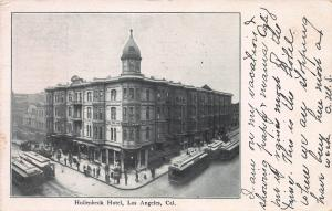 Hollenbeck Hotel, Los Angeles, California, Early Postcard, Used in 1907