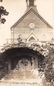 Holy Hill Wisconsin~14th Station of the Cross of Our Lord Jesus Christ~RPPC 1910