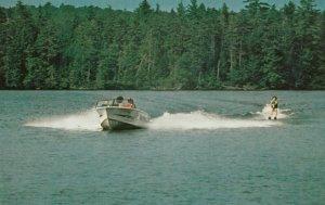 SARANAC LAKE , New York, 1950-1960s; Waterskiing