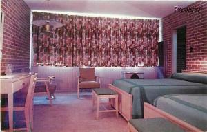 MS, Hattiesburg, Mississippi, Marco Hotel Courts, Bedroom, Dexter Press No 76478