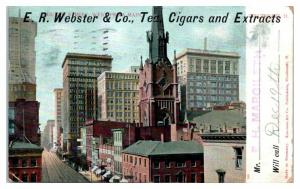 E.R. Webster & Co., Tea Cigars and Extracts, Cincinnati, OH Postcard *4W