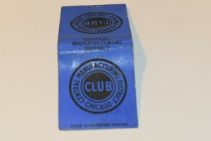 Central Manufacturing District Club 20 Strike Matchbook Cover