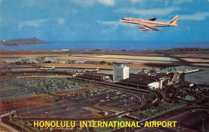 Honolulu Hawaii International Airport Birds Eye View Vintage Postcard J927740