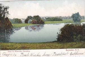New York Rochester View In Riverside Cemetery