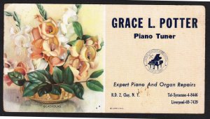 Clay NY – Grace L. Potter - Piano Tuner blotter