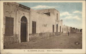 El Hamma Tunisia Africa Arab Village c1915 Postcard #2