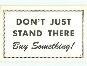 Postcard Please Buy Something # 1102A