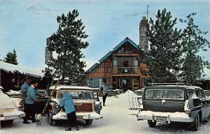 Station Wagons Chalet Otsego Ski  Club Gaylord Michigan 1963 postcard