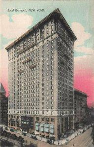 Hotel Belmont, Manhattan, New York City, Early Hand Colored Postcard, Unused