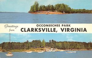 Clarksville Virginia Occoneechee Park Multiview Vintage Postcard K89041