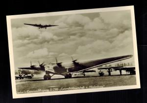 Original Germany 1933 Mint Junkers D2500 4 Engine Airplane  RPPC Postcard