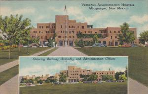 2-Views, Veterans Administration Hospital, Showing Building Assembly & Admini...