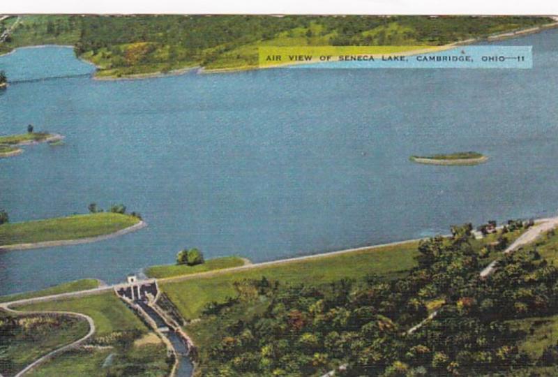 Ohio Cambridge Aerial View Of Seneca Lake