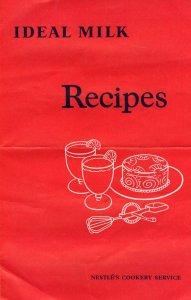Milk Recipe Book Nestles Chocolate Cookery Service Pamphlet