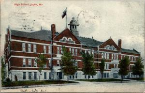Joplin Missouri~High School~1907 Postcard