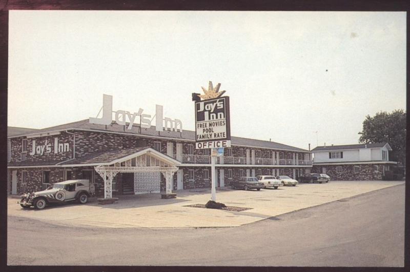 Jays Inn Restaurant Vandalia Illinois Vintage Postcard