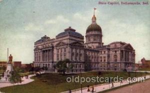Indiannapolis, Indiana, USA United States State Capital Building Postcard Pos...