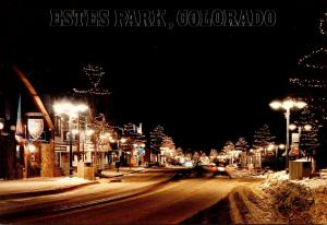 Colorado Estes Park At Night