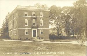 Norton, Mass., Chapin Hall, Wheaton College (1910s) RPPC
