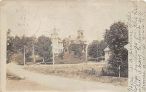 Angola Indiana~Tri-State College Buildings-Street-House~See Note!!!~1906 RPPC