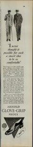 1927 Arnold Glove Grip Shes Men Vintage Print Ad 3932