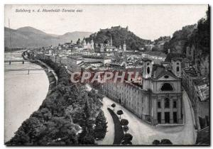 Postcard Old Salzburg Humboldt Terrace Aus