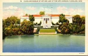 Ohio Cleveland Museum Of Art and Lake At Fine Arts Gardens 1941 Curteich