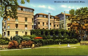Massachusetts Greenfield The Weldon Hotel 1951