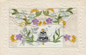 Embroidered Bell & Flowers , 00-10s; Insert Happy Easter