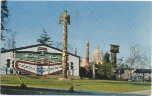 Totem Poles in Thunderbird Park Victoria British Columbia BC