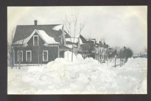RPPC LAMBERTON MINNESOTA RESIDENCE STREET WINTER SNOW REAL PHOTO POSTCARD