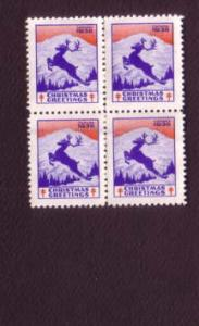 Block of Christmas Seals, 1938
