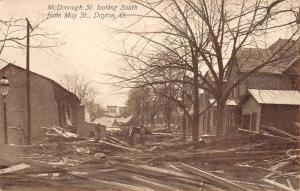 Dayton Ohio McDonough Street Scene Ruins Antique Postcard K61041