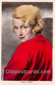 Greta Nissen Movie Actor / Actress Unused