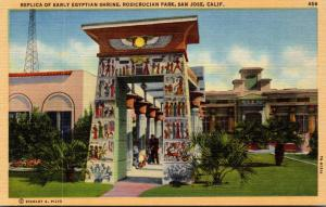 California San Jose Rosicrucian Park Replica Of Early Egyptian Shrine