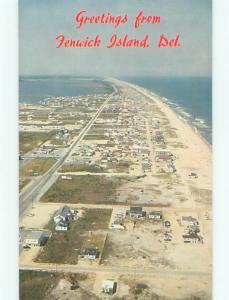 Unused Pre-1980 AERIAL VIEW OF TOWN Fenwick Island Delaware DE n2882@