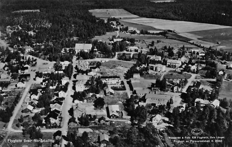 Sweden Flygfoto over Nordmaling, Aerial View, Panorama 1952