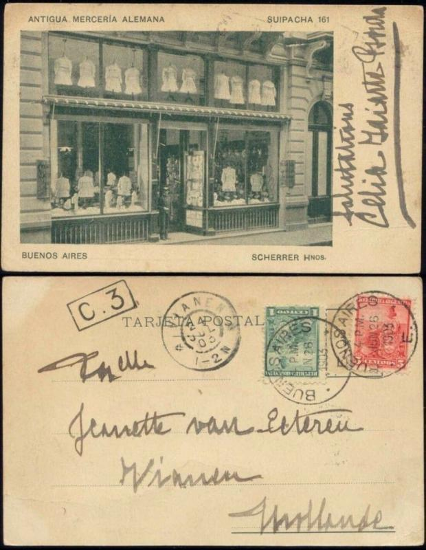 argentina, BUENOS AIRES, Antigua Merceria Alemana, Suipacha 161 (1903) Stamps