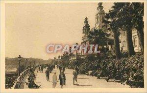 Old Postcard Monte Carlo Principality of Monaco Terrace and Garden Casino