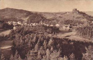 General View & Ruins Of The Feudal Chateau, Murols (Puy-de-Dome), France, 190...