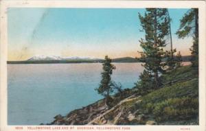 Yellowstone Lake and Mount Sheridan Yellowstone National Park Curteich
